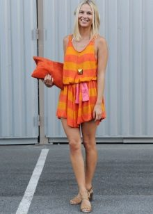 Summer knitted color dress