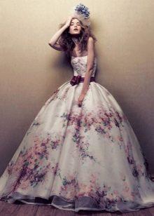 Color lush wedding dress