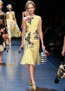 Striped summer color dress