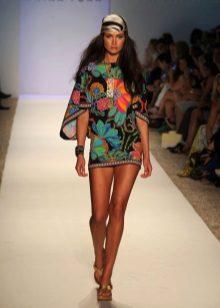 Beach short color dress tunic