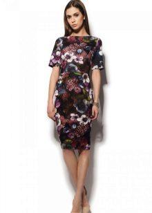 Color knit dress