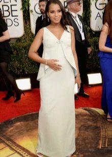 Witte jurk met de juiste stijl verstopt