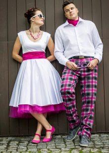 Esküvői ruha színes petticoats