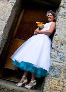 Esküvői ruha kék petticoats