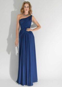 Sarışın için kat mavi elbise