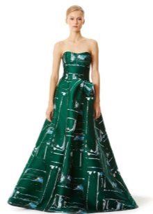 Yeşil Tüylü Elbise