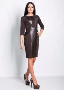 Mørk brun kontor kjole