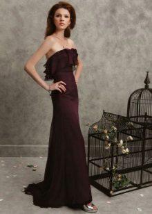 Brun kjole