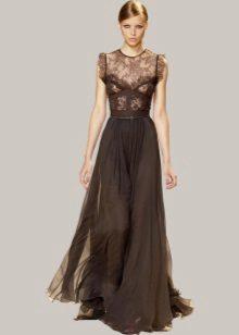 Lang brun kjole
