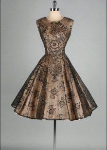 Brun-sort kort kjole