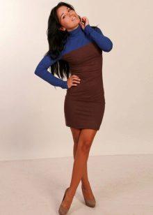 Brun-blå kjole