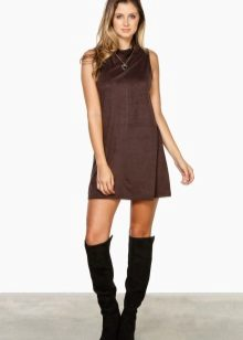 Suede Brown Dress