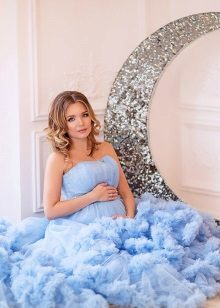Fotoshoot zwanger in een jurk