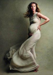 Lange jurk voor een zwanger meisje voor een fotoshoot - jurken voor zwangere vrouwen voor een fotoshoot