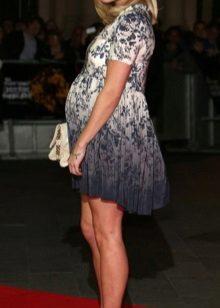 Elegante jurk kort moederschap