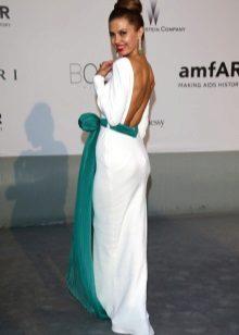White dress with aquamarine - Victoria Ooh!