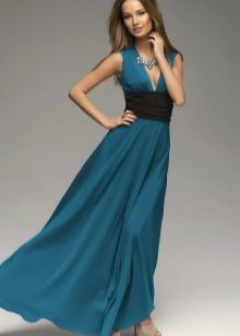 Dress navy blue with black