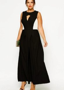 Two-tone dress for full black and white