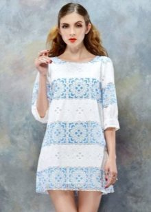 Two-tone dress with sleeves