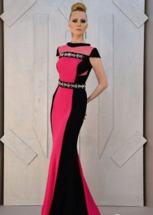 Floor-length dress with side panels