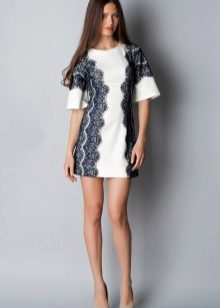 Two-tone A-line Dress with Lace