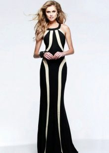 Evening two-tone dress