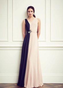 Dress two-tone blue-pink