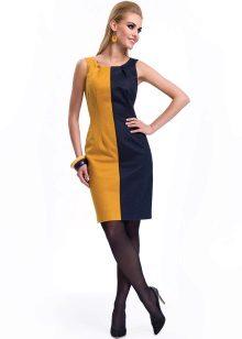Yellow-blue short dress