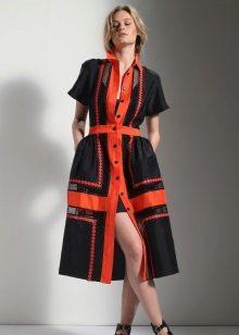 Dress color-block