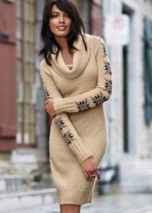 Two-tone dress sweater