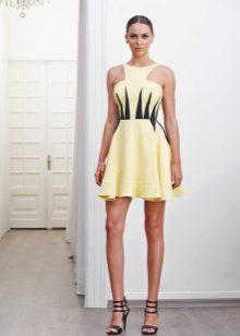 Short yellow-black dress