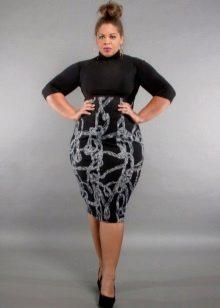Vestit ajustat amb cintura alta per a dones obeses