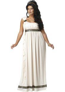 Vestit amb una cintura alta en estil grec per complet