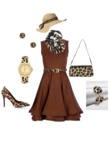 Vestido e acessórios cor de chocolate