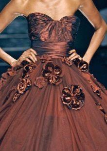 Vestido cor de chocolate