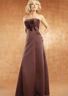 Vestido longo cor de chocolate