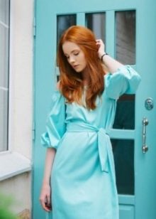 Mint dress for red