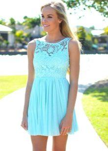 Short Lace Mint Dress