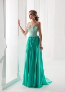 Mint dress to the floor