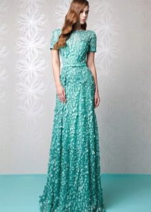 Mint dress with lace