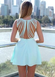 Mint dress with open back