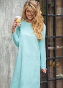 Mint dress with long sleeves