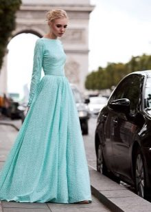A-line Mint Dress