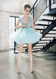 Fluffy mint dress