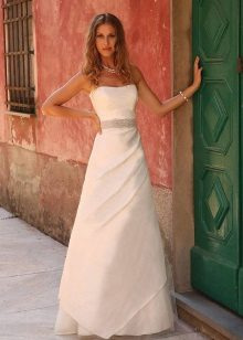 Lange witte jurk