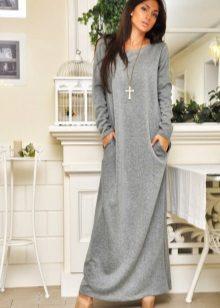 Lange warme jurk