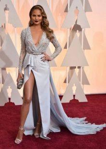Lange asymmetrische jurk