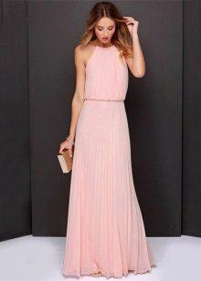 Pakaian panjang dengan skirt dan lipatan atas