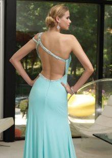 Chiffon jurk met open rug