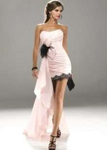 Rochie roz cu sandale